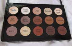 """-snob: """"This is my everyday Mac palette ♡ I have 4 mac palettes, but this is the one I use the most. Mac palettes are empty, and you can fill them up with any eyeshadows you want. Mac Single Eyeshadow, Mac Eyeshadow, Makeup Inspo, Makeup Tips, Beauty Makeup, Mac Palette, Mac Shadows, Making Faces, Kiss Makeup"""