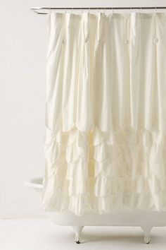 Anthropologie!!! One of the prettiest stores.  I have a shower curtain similar to this...