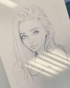 Character design ~ by hiba_tan unique drawings, love drawings, beautiful drawings, realistic drawings Art Drawings Sketches, Realistic Drawings, Love Drawings, Beautiful Drawings, Pencil Drawings, Unique Drawings, Drawings Of Girls, Drawing Girls, Cool Sketches
