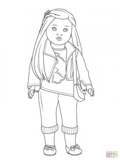 american girl coloring pages - American Girl Coloring Pages Julie
