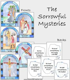 The Sorrowful Mysteries of the Rosary Cards