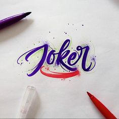 Brushpen Lettering Set Superheroes Edition on Behance