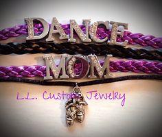 DANCE MOM Rhinetone Suede/Leather Bracelet w/ a by LLCustomJewelry
