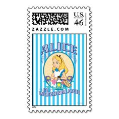 Alice in Wonderland - Frame Postage. Special Disney's Alice in Wonderland items to personalize for yourself or as a gifts to friends.