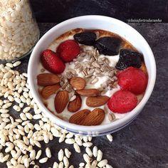 My Casual Brunch: Papas de aveia com iogurte grego 0% gordura, moran...