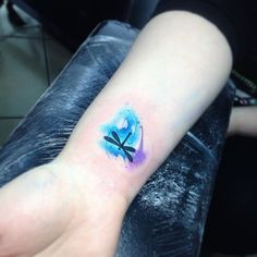 Love this - would like it even more if the dragonfly was white or left free of ink.
