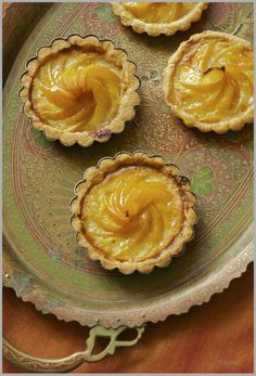 Thyme: Apricot Tartlettes...celebrating the beauty that defines summer...  Love the tray...