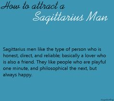 How to tell when a sagittarius man is in love