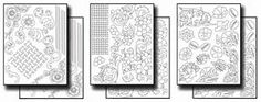 This amazing new pack includes traditional tooled leather designs, such as Sheridan-style flowers, leaves, and rope, and also 2 sizes of fun basket weave designs