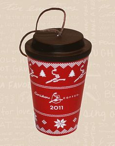 2011 Caribou Coffee Fairisle Mini To Go Cup