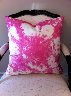 Tye Dye Pink Pillow - Heartbeat. $70.00, via Etsy.
