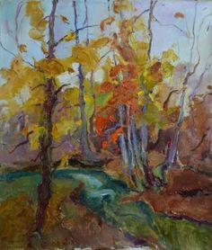 "Saatchi Art Artist Shandor Alexander; Painting, ""place where life is autumn"" #art"