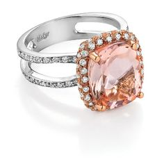 White & pink gold, morganite & diamond...just stunning.