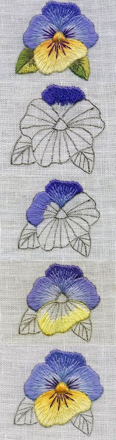 Marvelous Crewel Embroidery Long Short Soft Shading In Colors Ideas. Enchanting Crewel Embroidery Long Short Soft Shading In Colors Ideas. Crewel Embroidery, Paper Embroidery, Hand Embroidery Stitches, Hand Embroidery Designs, Embroidery Techniques, Cross Stitch Embroidery, Machine Embroidery, Embroidery Digitizing, Chinese Embroidery