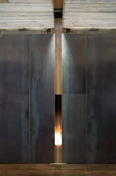 Wall + fireplace - Olson Kundig Architects | Shadowboxx 2009 Lopez Island
