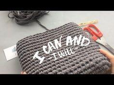 Торба из трикотажной пряжи Эльярн крючком - YouTube