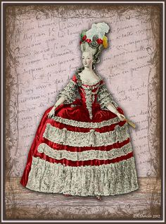 French Fashion - Marie Antoinette Style by ekduncan, via Flickr <3 1700's fashion