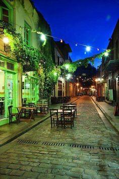 Ladadika, a neighborhood in Thessaloniki, Greece Travel Around The World, Around The Worlds, Empire Ottoman, Macedonia Greece, Greek Beauty, By Train, Greece Travel, Night Life, Places To See