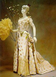 queen's gowns sweden gown 1890 | debutante ball gown 1888 choosing her gown rehearsing how debutante