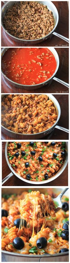 One-Pan Enchilada Pasta Ingredients: 2 tablespoon of extra virgin olive oil 2 cloves of garlic, minced 1/2 of a small onion, diced 1.25 pounds of taco seasoned ground turkey meat or 1.25 pounds of ...
