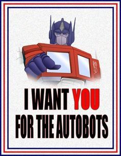 transformers themed bedroom | optimus prime autobot recruitment poster
