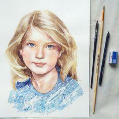 New watercolor commission portrait