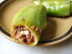 Authentic Caiguas rellenas - comida peruana - caiguas filled with beef, raisins and olives..., ,