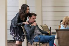 I can't find a full-length image of Amantha's look. Abigail Spencer plays this character on Rectify. Her Season 1 look tended to be cute dresses with knee-high boots and a jacket. Caught my eye every time.