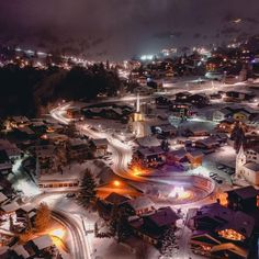 Verbier at night ✨ 📷 Ski Season, Ski Chalet, Winter Scenery, Christmas Past, Old Pictures, Airplane View, Skiing, Beautiful Places, Relax
