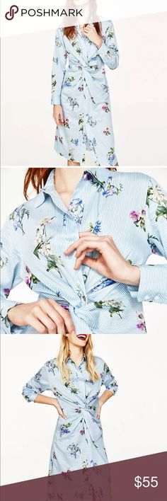 Zara Floral Midi Dress Floral Midi Dress Zara Dresses Midi