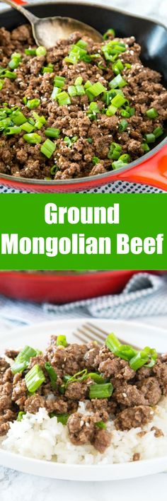 Ground Mongolian Beef Recipe – a budget friendly twist on classic Mongolian beef. All the great taste in a cheap and easy dinner you can have ready in minutes!