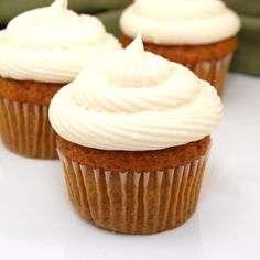 Sweet Pea's Kitchen » Carrot Cake Cupcakes with Cream Cheese Frosting.  We added nuts and dried cherry's.  Yummy!