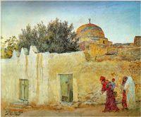 Marabout sidi bou Derbala Peinture de Alexandre Roubtzoff (1948)