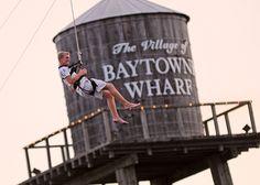 Ziplining Baytowne Wharf