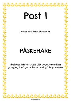 thumbnail of danskløb påske Ice Breakers, Diy For Kids, Mindfulness, Teaching, Sprog, School, Fun, Easter, Birthday