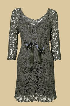 MADE TO ORDER  Crochet dress custom made, hand made, crochet -  viscose,cotton