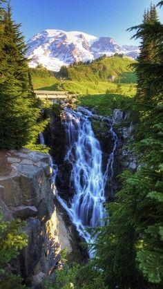 Myrtle Falls, Mt. Rainer National Park