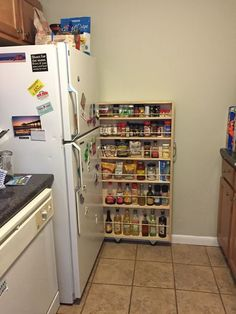 Hidden Fridge Gap Slide-Out Pantry