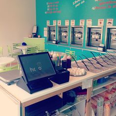 "Islands Frozen Yogurt @Keila Neill's photo: ""A nice clean frozen yogurt bar!"" #islandsfrozenyogurt #froyo #yummy #cavendish #work"""