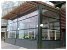 Clear automatic pvc blind