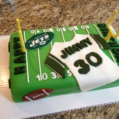 Jets, Jets, Jets Cake!  gotta love the jets would work for my husband or my youngest son.