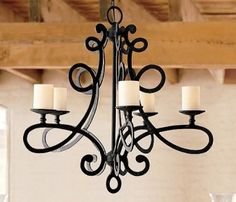 Wrought Iron Chandelier  http://www.chandeliersland.com/wrought-iron-chandeliers/#