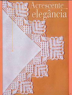 Lace Edging Crochet Patterns - Beautiful Crochet Patterns and Knitting Patterns Crochet Dollies, Crochet Lace Edging, Crochet Borders, Crochet Poncho, Thread Crochet, Crochet Trim, Crochet Flowers, Crochet Stitches, Crochet Hats