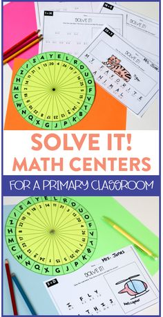 Solve It Math Centers! - Susan Jones