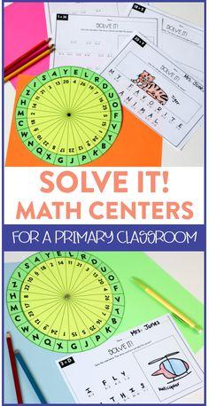 Solve It Math Center