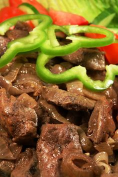 "Liver and onions is a classic ""comfort food"" dish, featuring tasty, tender liver, juicy onions and a rich brown gravy. Liver is often cooked quickly in a skillet but you can also achieve good results by slow-cooking it."