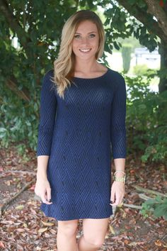 I Need You Around Dress: Navy/Black - Off the Racks Boutique