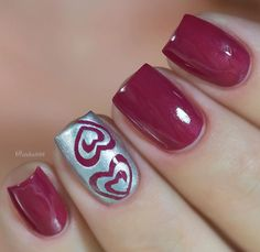 Fabulous manicure by the lovely @arita888 using our Small Heart Swirl Nail Vinyls found at snailvinyls.com