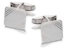 F.Hinds Mens Jewellery Jewelry Sterling Silver Square Cufflinks  Price Β£39.95