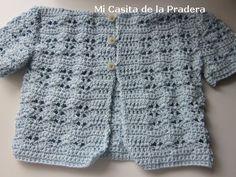 Jersey de bebé a crochet - Mi pequeña casa de la pradera